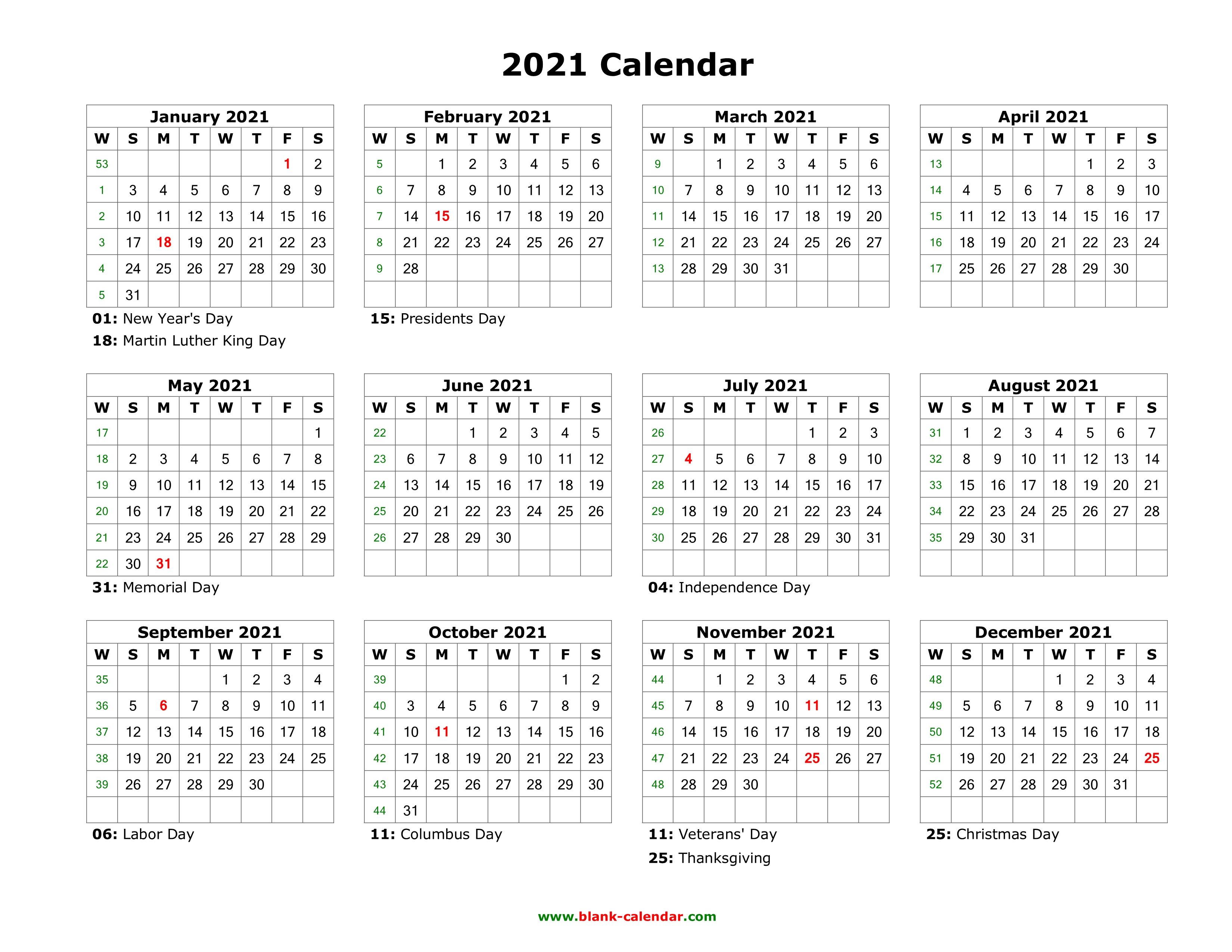 Download free printable 2021 blank monthly calendar and customize template as you like. Free Printable Calendar Year 2021   Calendar Printables ...