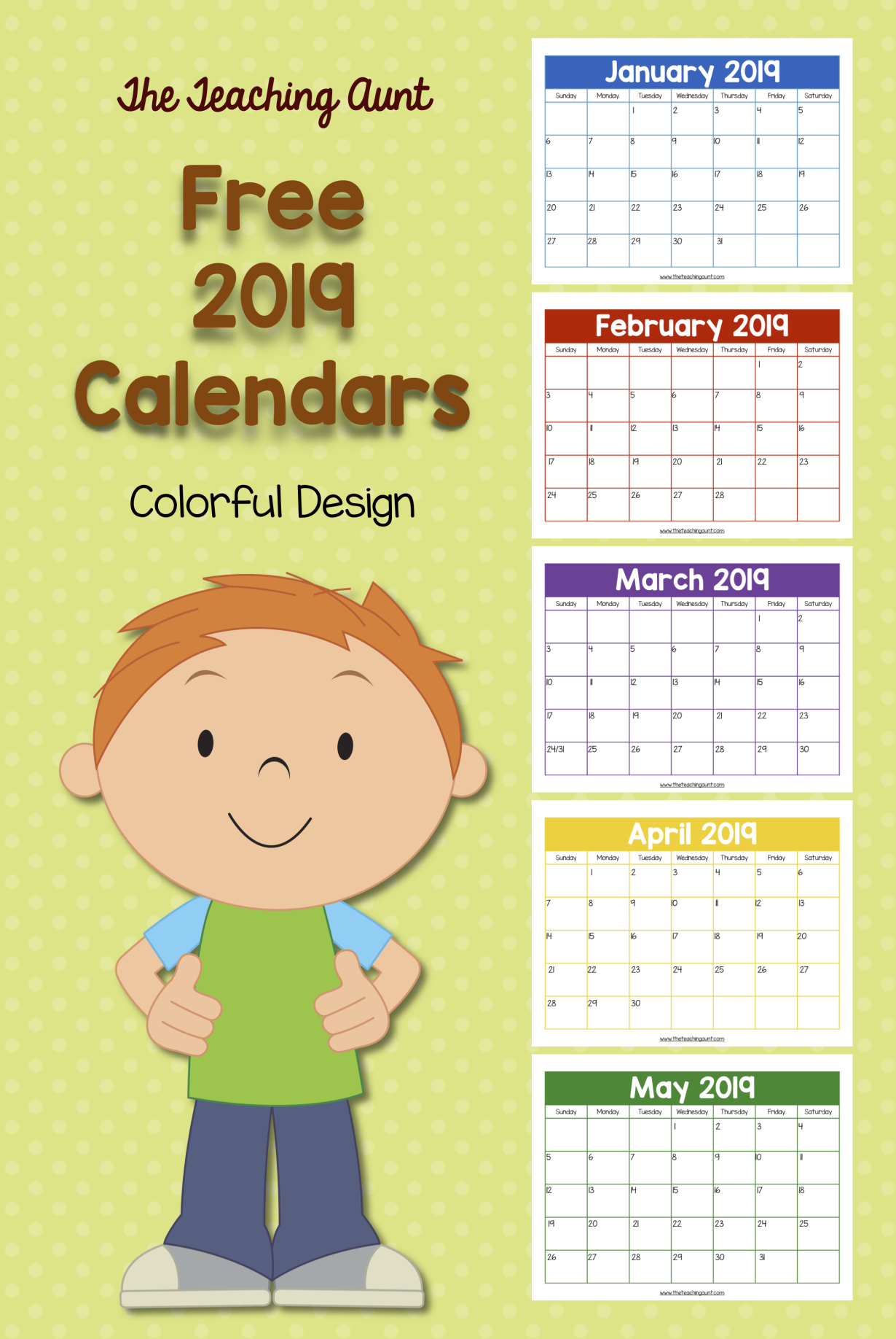 Free Printable Calendar Numbers For Teachers