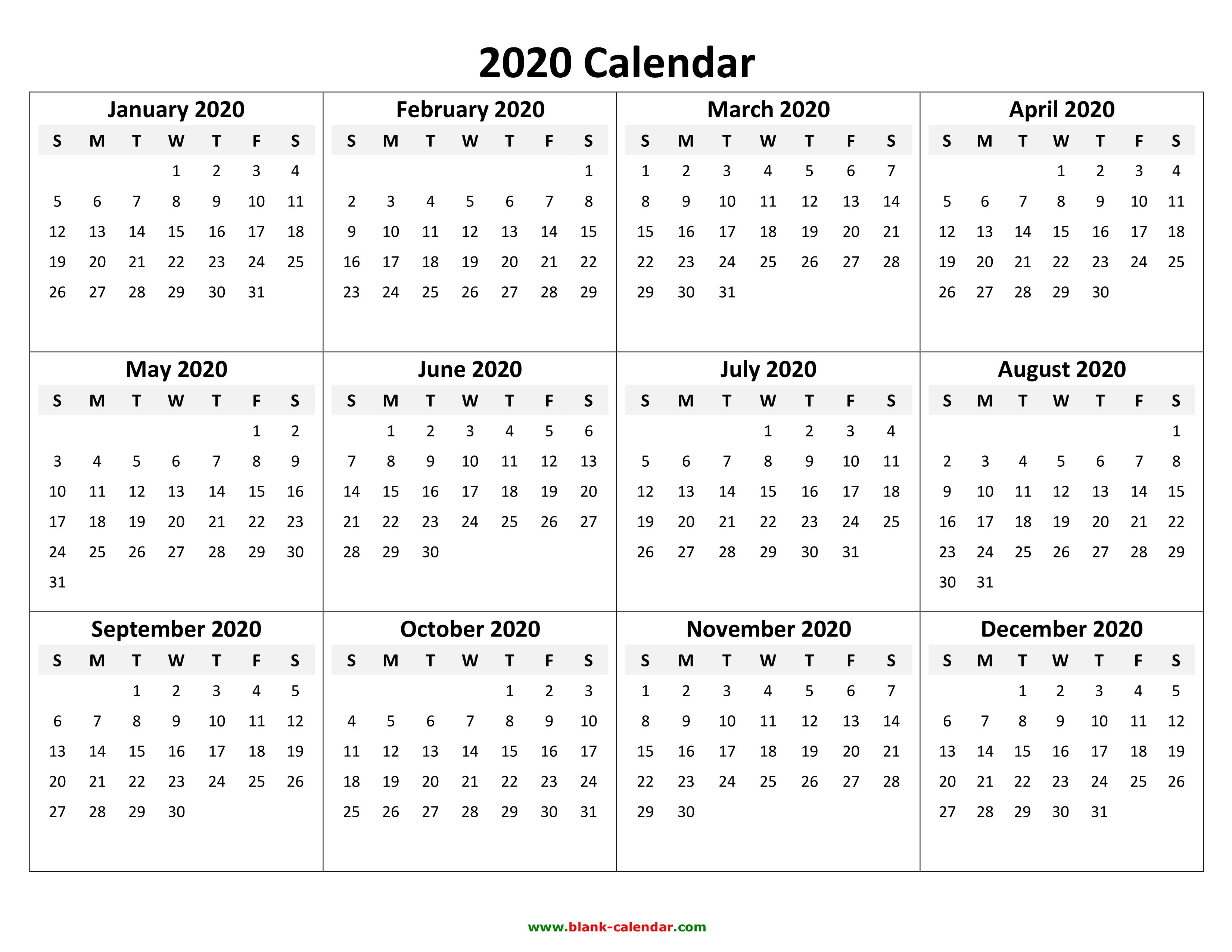 Free 2020 Calendar Printable Pdf.2019 Calendar 2020 Printable Word Free Printable Calendars And