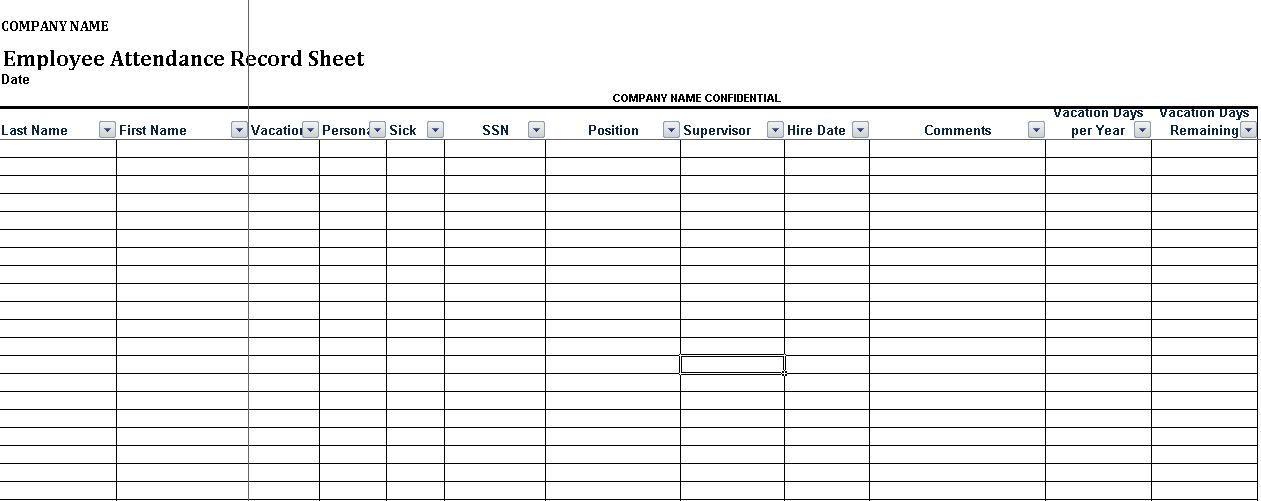 Employee Attendance Calendar Sheet 2020 Excel Calendar Letters