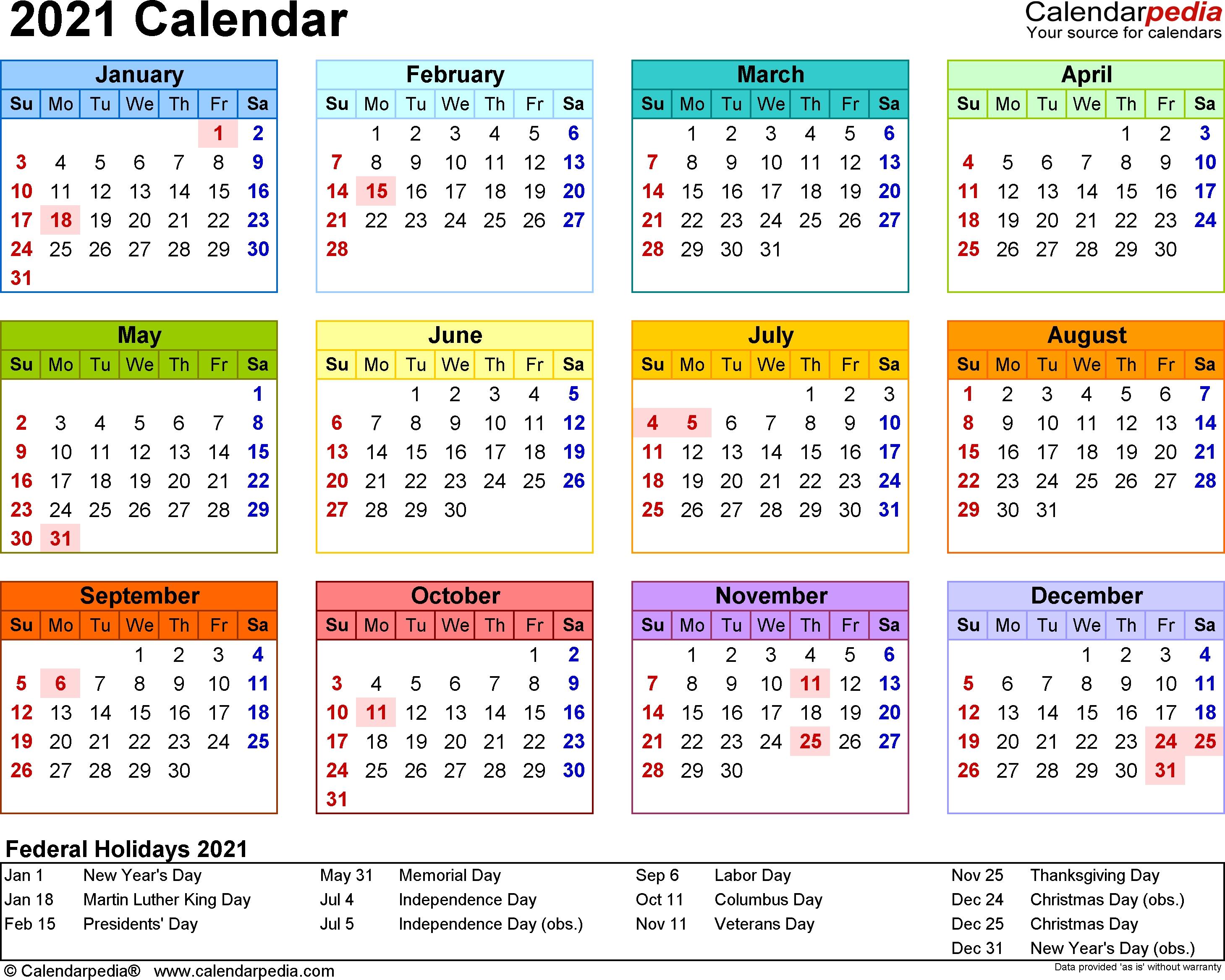 Free 2021 yearly calendar template service. Year Calendar For 2021 | Month Calendar Printable