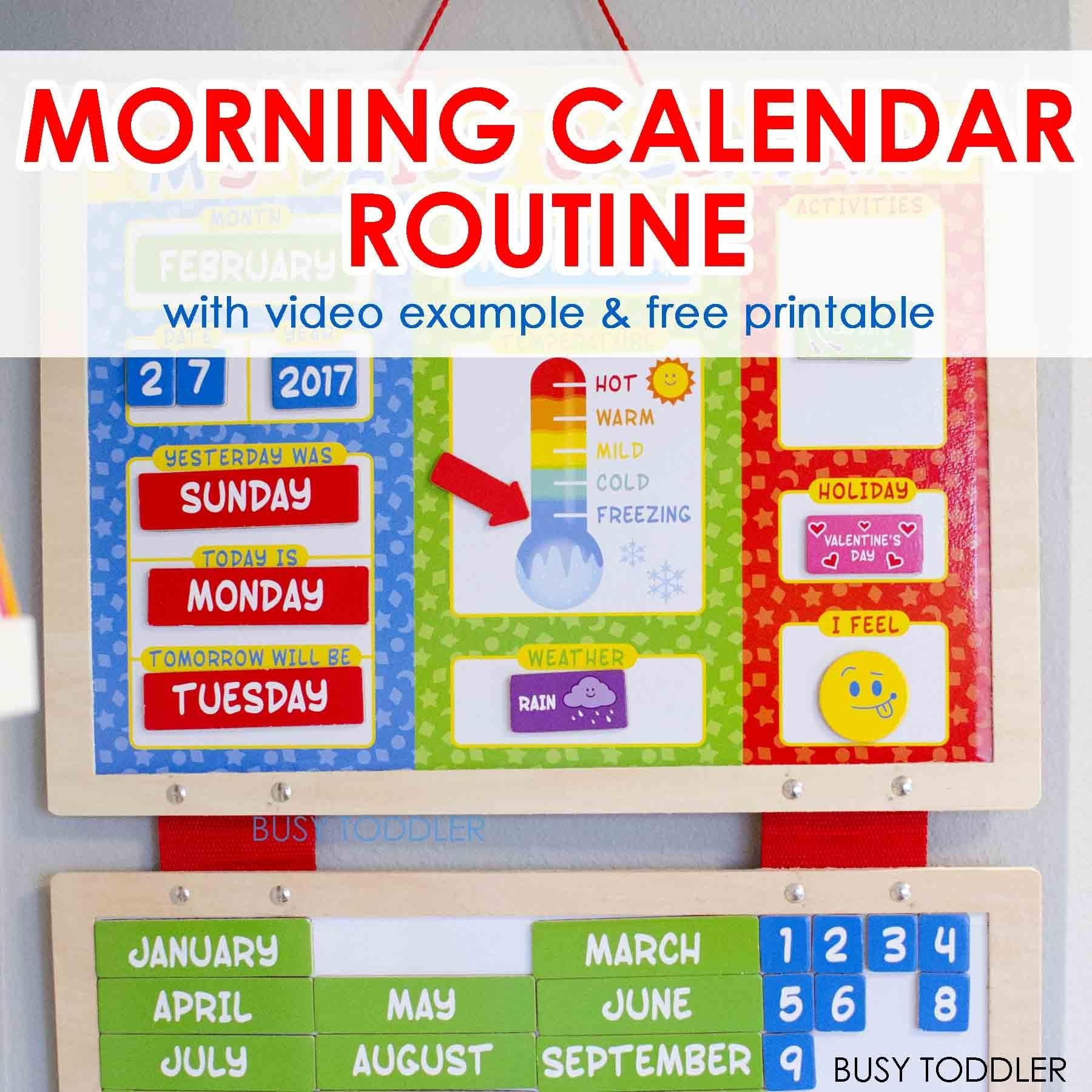 Free Smartboard Calendar Kindergarten