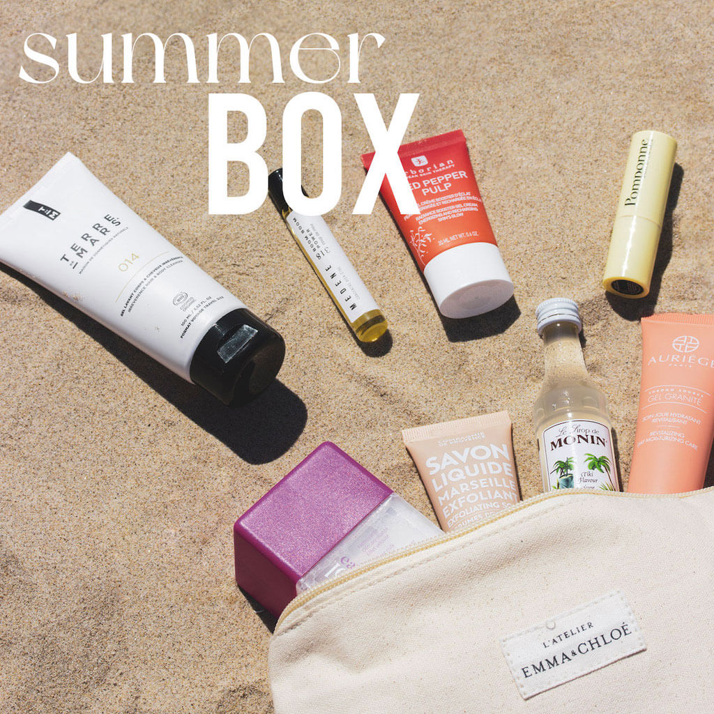 Summer Box emma & Chloé : bijou et produits de beauté, contenu + code promo 10€