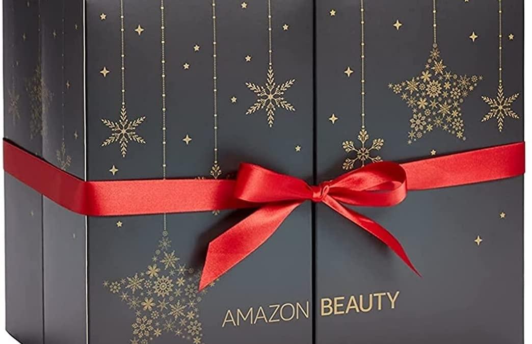 Calendrier de l'Avent Amazon Beauty 2021 cosmétiques et soins du visage naturels, maquillage, accessoires, spoiler, contenu, code promo, unboxing
