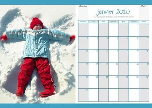 calendrier 2010 janvier 2010 mensuel