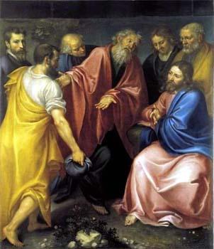 Philippe présente son ami Nathanaël au Christ (Jean Boucher)