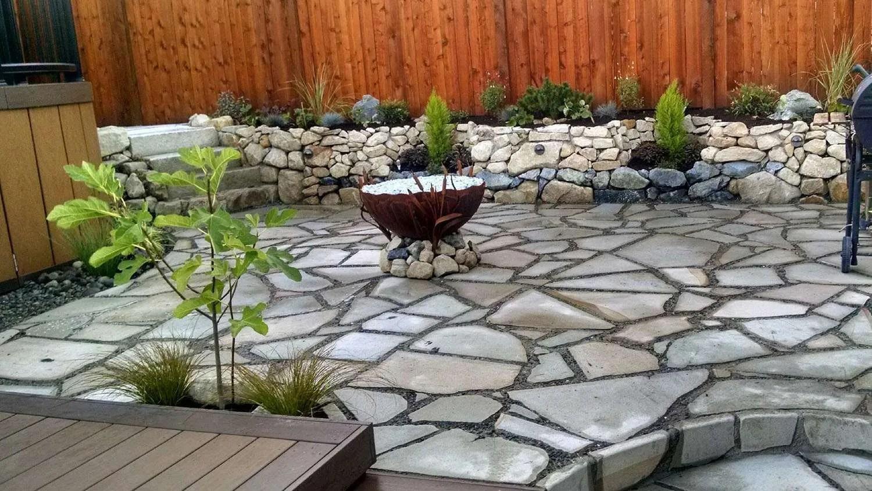 stone patio construction gallery