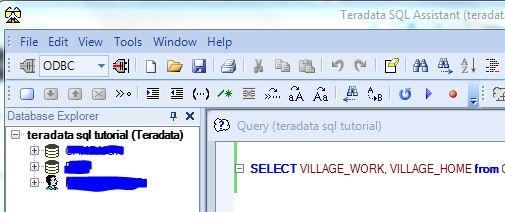 Teradata Database Explorer & Query Toolbox