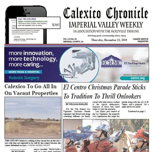 Calexico Chronicle e-edition 12-12-19