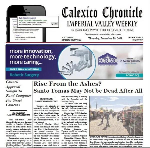 Calexico Chronicle e-Edition 12-19-19