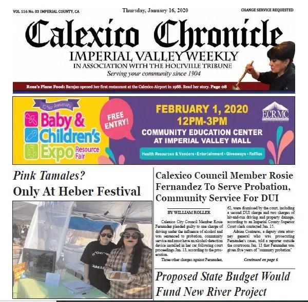 Calexico Chronicle e-Edition 1-16-20