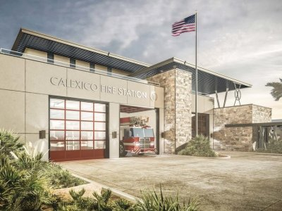 Contract Was to Be Awarded for New Calexico Fire Station