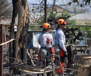 Team Rubicon's Military Vets Aid Niland Fire Clean-up Effort