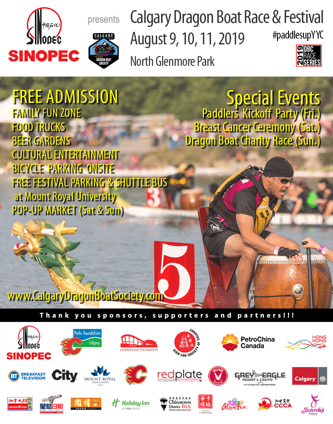 It's official, Calgary Dragon Boat Race & Festival 2019 will be held…