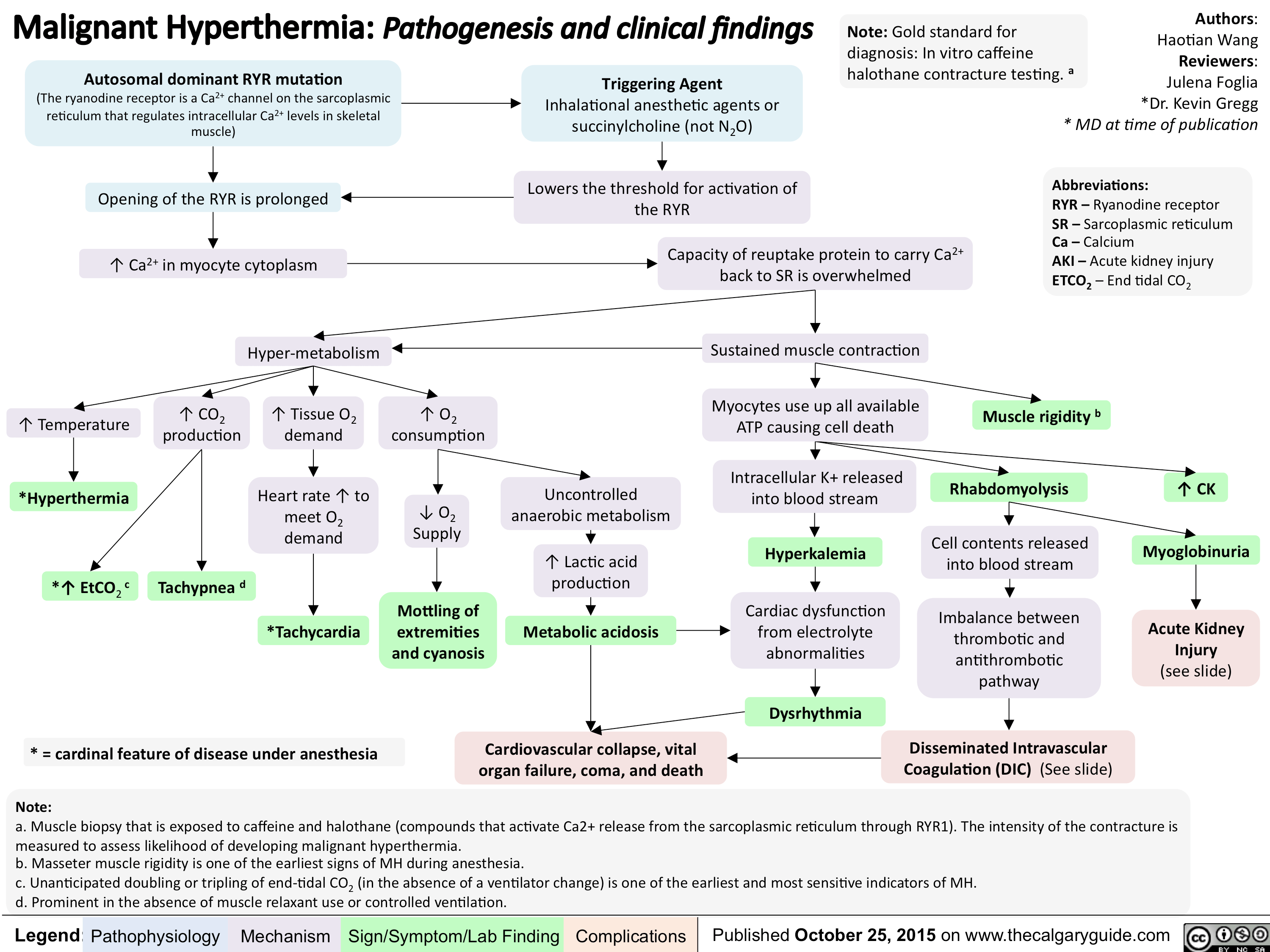 Malignant Hyperthermia Pathogenesis And Clinical Findings