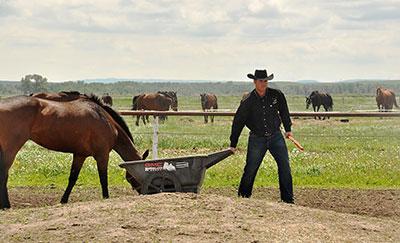 Jordie Fike working on his ranch. Photo by Ian Esplen