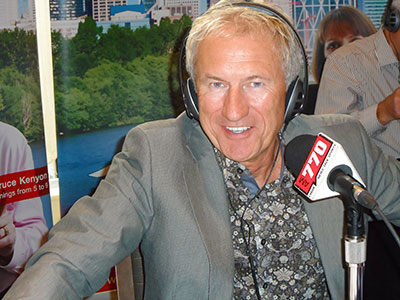 "On his last show, Rutherford expressed his ""profound disappointment"" with Corus Radio for directing its resources to music radio stations during the flood in June instead of CHQR News Talk 770 news."