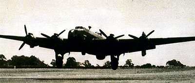 Steve Kuleski mailed this photo of a Halifax bomber to his parents in April 1944.   Photo courtesy of Stephen Taylor