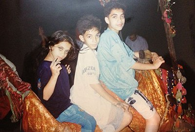 Aleem with his siblings