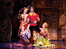 THUMB2cameron bond as gaston and the silly girls of disneys beauty and the beast. photo by matthew murphy