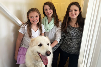 Shwytky Girls With Lucky-The Family Dog