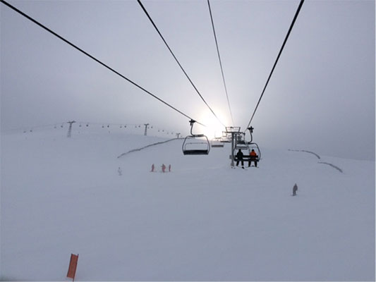 "A view of ""The Top of The World"" at Lake Louise Ski Resort"
