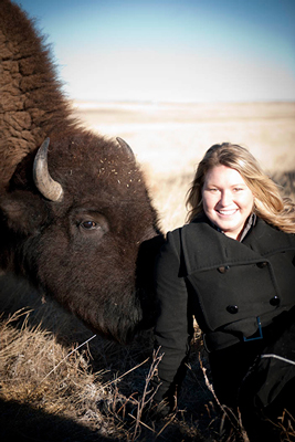 Vanessa Salopek visits High Country Bison Farm, one of the supplier farms for her restaurant.