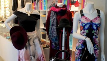 Mannequins in the Inglewood store foyer displaying some fun floral fashions. Photo Courtesy of Espy Experience