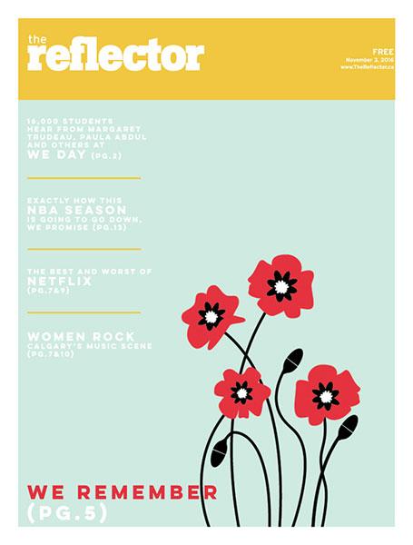 The Reflector November 3, 2016 cover design