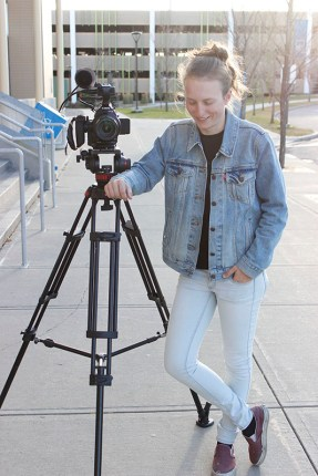 Justine Stevens and her camera
