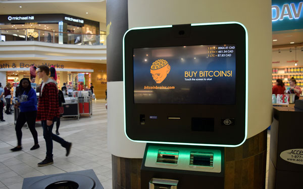 Bitcoin Brains has bitcoin ATMs located in both Northland and Sunridge Malls. With bitJob, they hope to have the ability to cash out student coins through the machines in early-to-mid 2018. Photos by Alec Warkentin.