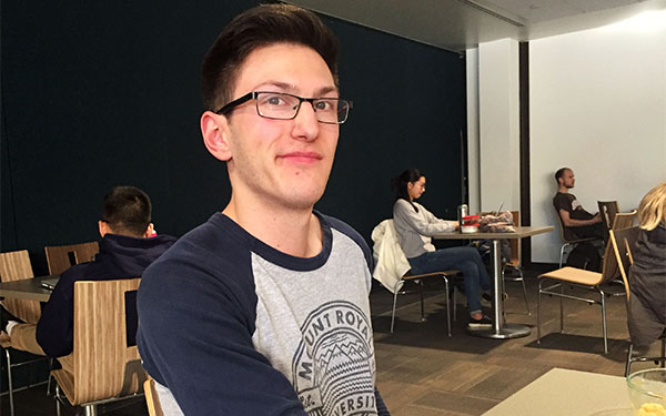 Travis Walsh is a first-year student and says the fall reading week at MRU felt too early since he didn't have mounting homework at the time.