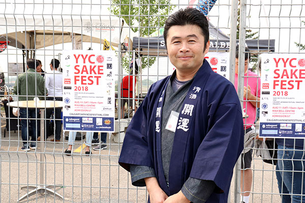 Yasuhiro Washiyama is excited this year the Sake Fest was added to be a part of Omatsuri. Photo by Casey Richardson.