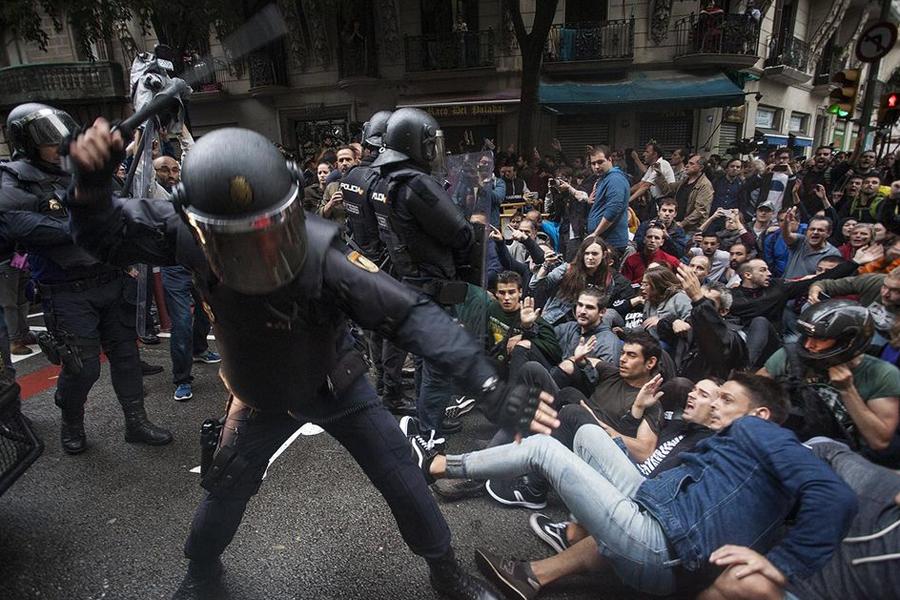 Spanish police violence