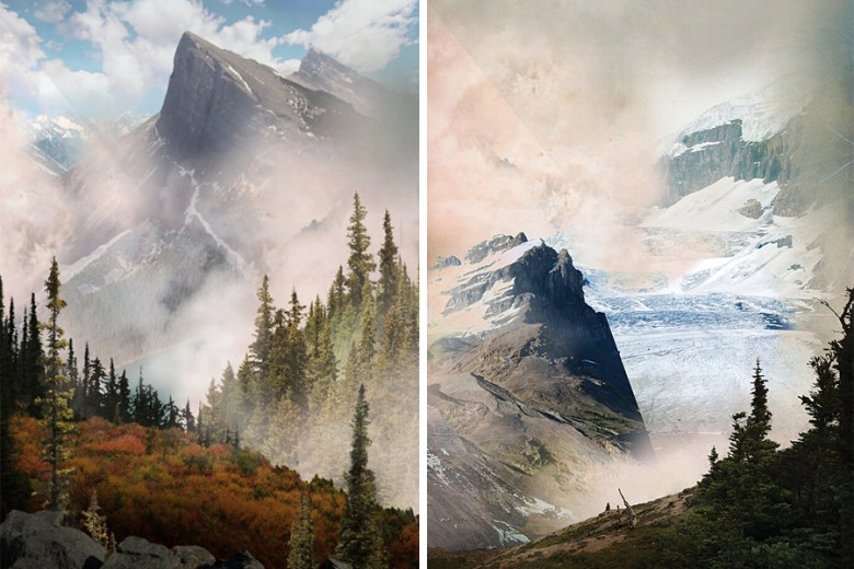 Ha-Ling Peak & Athabasca Glacier