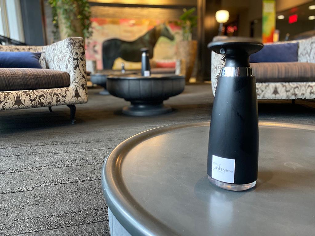 Hotel Arts Lobby Hand Sanitizers