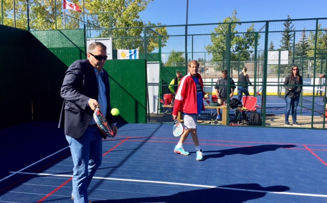 Bill Smith loves to play padel