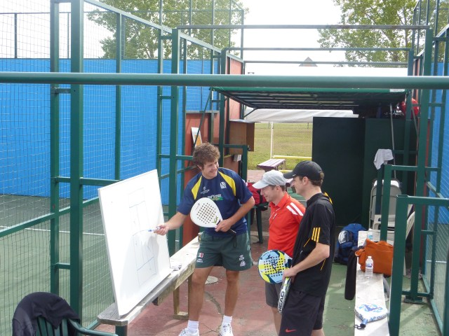 Andres Stamile teaching Padel