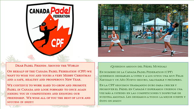 Merry Christmas from Canada Padel Federation