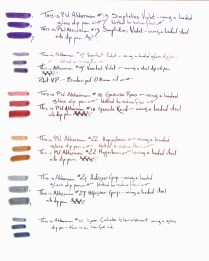 Akkerman Ink Samples