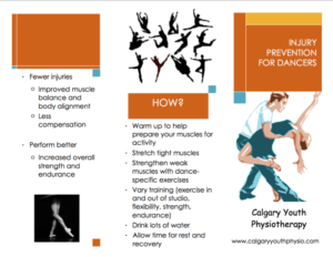 Dance Injury Prevention Pamphlet