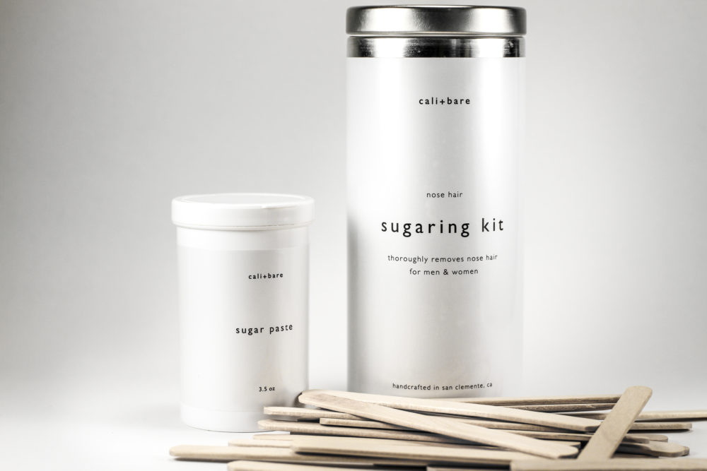 cali+bare sugaring kit for nose hair removal