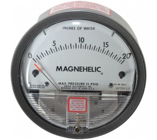 Dwyer Differential Pressure Gauge P/N 2020