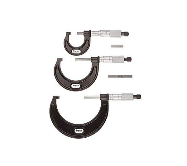 Starrett ST436.1AXRLZ 0-3in Outside Micrometer Set