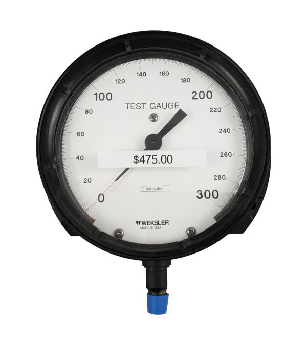 Used Weksler 300 PSI Test Gauge Front