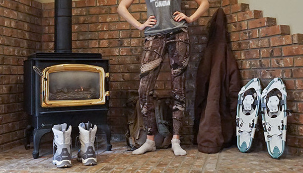 Icebreaker Ika Legging Camo merino base layer