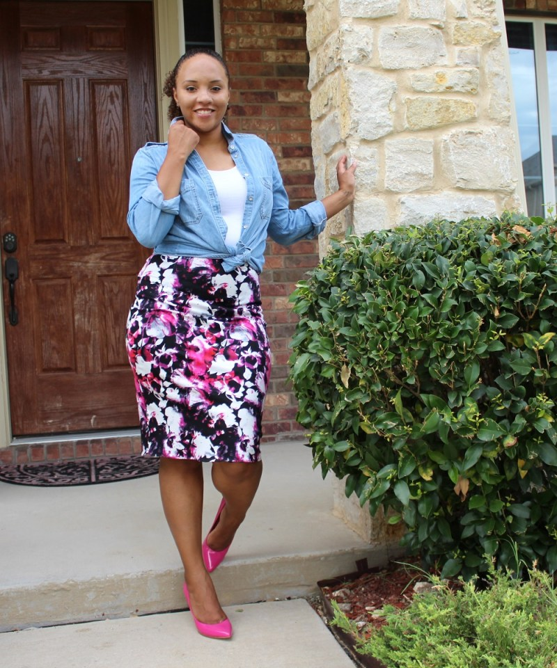 Floral Pencil Skirt 2