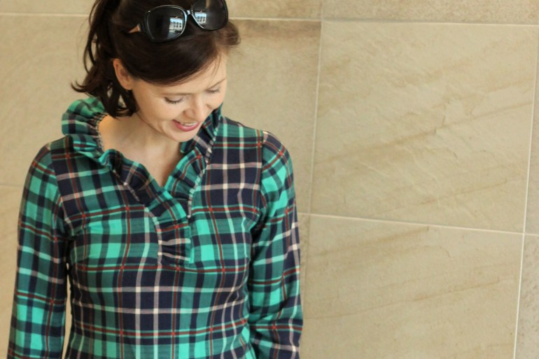 creating in the gap plaid tunic