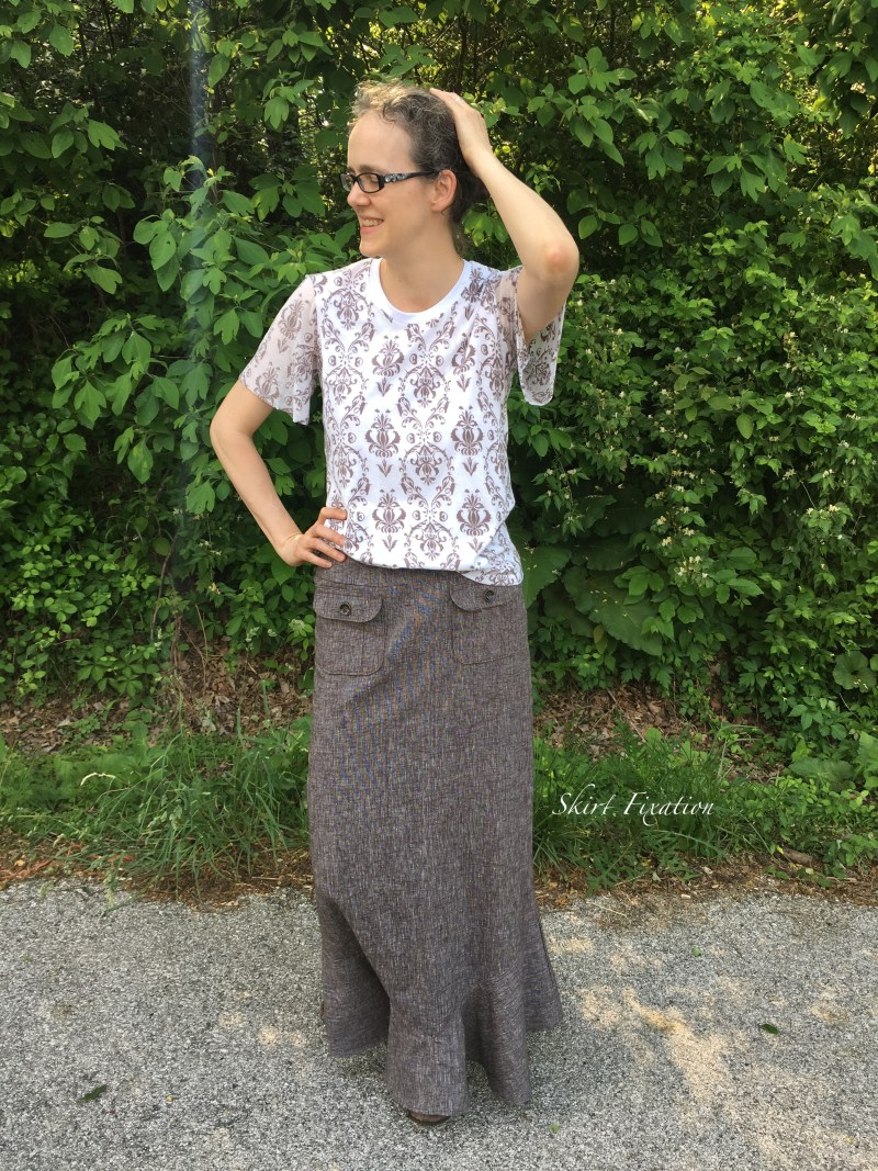 Brown Linen Skirt 5