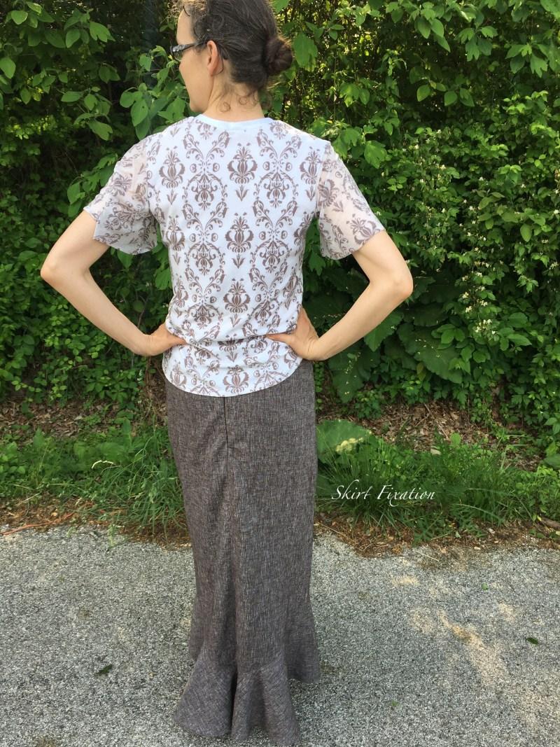 Brown Linen Skirt 6